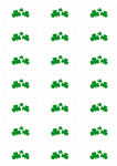 Shamrock Stickers - 21 per sheet